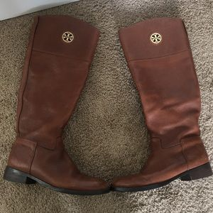 Brown Tory Burch boots